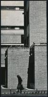 cca 1974 Hidvégi Péter feliratozott vintage fotóművészeti alkotása, 24x12 cm