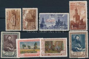 1947-1948 800 éves Moszkva sor Mi 1121-1124 + Ivan Shishkin halálának 50. évfordulója sor Mi 1220-1223 (Mi EUR 85,-)
