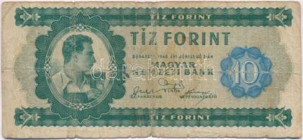 1946. 10Ft vízjeles T:III-,IV Adamo F1
