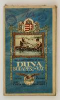 Vízi sporttérképek 5.: a Duna a Budapest-Vác szakaszának térképe, 1:25000, M. Kir. Állami Térképészet, vászonra ragasztva, 42×192 cm