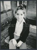 cca 1978 Vencsellei Valéria: Az utolsó út, 3 db feliratozott vintage fotóművészeti alkotás, 24x18 cm