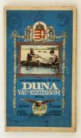 Vízi sporttérképek 6.: a Duna Vác-Esztergom szakaszának térképe, 1:25000, M. Kir. Állami Térképészet, vászonra ragasztva, 42×192 cm