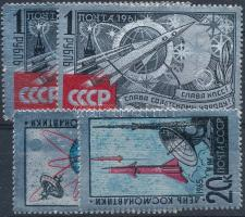 1961-1965 Űrkutatás 2 db klf alumínium fóliás kiadás Mi 2540 2 db + 3042-3043 (Mi EUR 103,-)