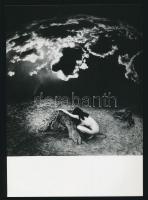 1989 Dobosy László: Rekviem, pecséttel jelzett vintage fotóművészeti alkotás, 12,5x12,5 cm