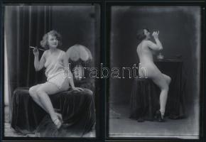 cca 1928 Demeter Károly (1892-1983) fényképész műtermi aktfelvétele, a szerző hagyatékában levő vintage negatívról készült mai nagyítás, 18x13 cm