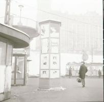 1971 Budapest, Moszkva téri részlet, 3 db szabadon felhasználható vintage negatív, 6x6 cm