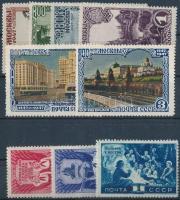1947-1948 9 db klf bélyeg Mi 1138, 1144, 1146, 1146, 1147, 1150, 1151, 1277-1179 (**Mi EUR 174,-)