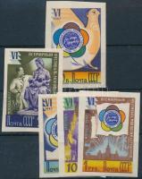 1947-1948 5 db klf vágott bélyeg Mi 1922, 1980, 1945, 1948, 1949 (**Mi EUR 295,-)