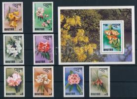 1976 Virág sor Mi 638-645 + blokk Mi 71