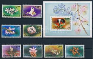1976 Virág sor Mi 669-676 + blokk Mi 75