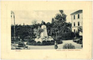 Zilah, Zalau; Szikszai park a Tuhutum emlékkel, W. L. Bp. 7105 / park, monument (EK)