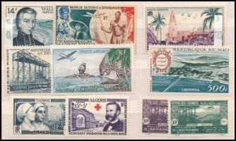 Francia gyarmatok 10 db klf bélyeg (Yvert 600 frank)