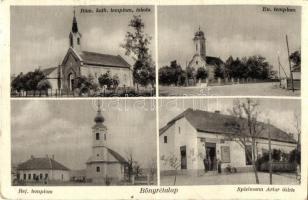 Bőnyrétalap, Római katolikus, evangélikus és református templom, iskola, Spielmann Artur üzlete és saját kiadása (EK)