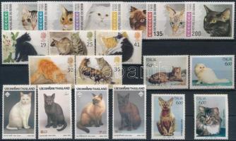 1993-1995 Macskák motívum 4 klf sor