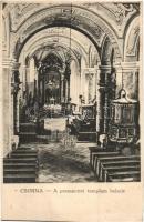 Csorna, premontrei templom, belső, Martincsevics Károly kiadása (EK)