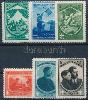 1932 Cserkész sor Mi 437-442 (Mi EUR 110,-) (betapadás)
