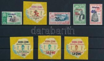 1964 Felülnyomott légi posta bélyegek sor Mi 294-301