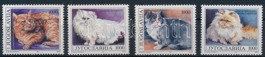 1992 Macskák sor Mi 2544-2547
