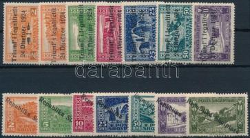 1924-1925 2 db klf sor felülnyomással (Mi EUR 100,-)