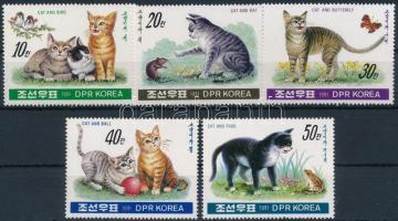 1991 Macskák sor Mi 3224-3228