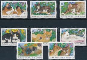 1995 Macskák sor Mi 1235-1242