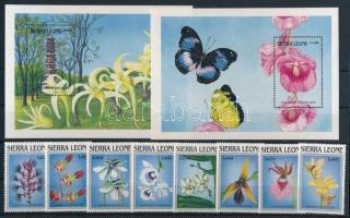 1989 Virág - Orchidea sor Mi 1269-1276 + blokksor Mi 107-108