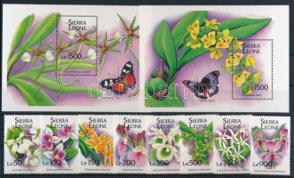 1994 Virág - Orchidea sor Mi 2181-2188 + blokksor Mi 251-252