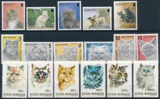 1989-1994 Macskák motívum 3 klf sor