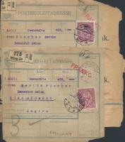 1918 2 db Csomagszállító Bécsből Rimaszombatra küldve (sérült)