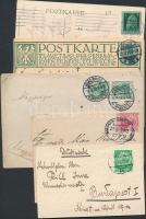 Németország 1910-es évek 3 db képeslap, 2 db levelezőlap, 3 db levél