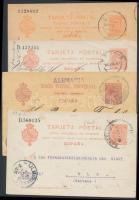 Spanyolország 4 db díjjegyes levelezőlap az 1900-as évekből