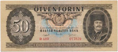 1951. 50Ft T:III szép papír