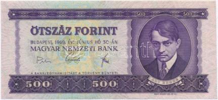 1969. 500Ft T:III szép papír
