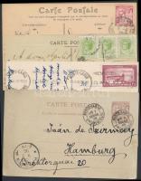 Monaco 5 db képeslap és 1 db díjjegyes levelezőlap az 1900-as évekből