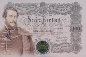 2002. 100Ft Ni-Cu-Zn Kossuth elsőnapi veret sorszámozott díszlapon T:BU Adamo FOEM1