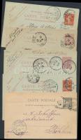 Franciaország 10 db díjjegyes levelezőlap az 1900-as évelből