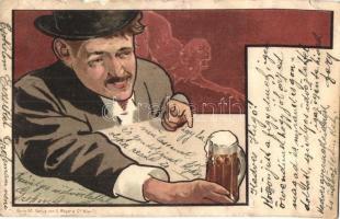 Beer drinking man, Verlag von G. Rüger & Co. (b)