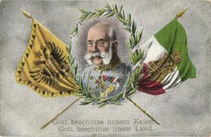 Gott beschütze unsern Kaiser, Gott beschütze unser Land / WWI Franz Joseph, Viribus Unitis, military field post (EK)