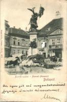 Budapest I. Dísz tér, Honvéd szobor, üzlet (EB)