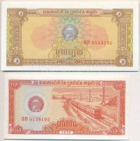 Demokratikus Kambodzsa 1979. 0.5R + 1R + 5R T:I Democratic Kampuchea 1979. 0.5 Riel + 1 Riel + 5 Riels C:UNC Krause 27; 28; 29