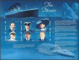 1998 Titanic elsüllyedésének 86. évfordulója kisív Mi 6205-6210