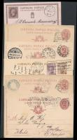 Olaszország 6 db díjjegyes levelezőlap az 1900-as évekből
