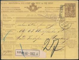 1933 Csomagszállító Milánóból Hamburgba küldve