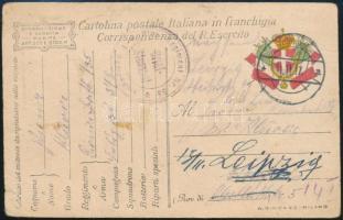 1917 Katonai levelezőlap