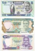 Zambia 1980-1988. 10K + 1989-1991. 20K + 1991. 50K T:I Zambia 1980-1988. 10 Kwacha + 1989-1991. 20 Kwacha + 1991. 50 Kwacha C:UNC Krause 26; 32; 34
