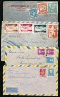 Latin Amerika levél összeállítás, benne 13 db légi levél