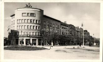 Újvidék, Novi Sad; Miklós sugárút, gyógyszertár, Keller és Kiss kiadása / avenue, pharmacy (EK)