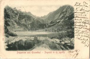 Tátra, Magas Tátra, Vysoké Tatry; Poprádi tó és Jégvölgy / lake, valley (EK)