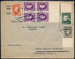 1929 Levél Prágába küldve német cenzúrával