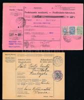 1912-1929 2 db postautalvány
